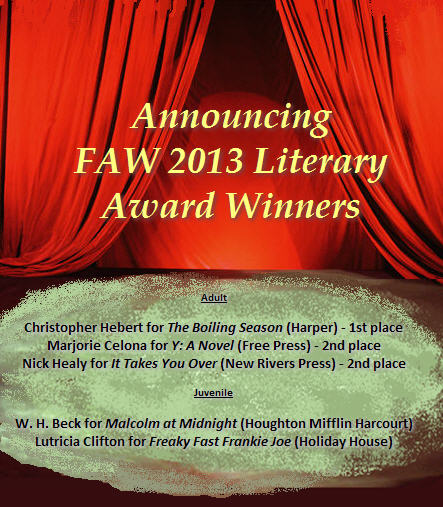 FAW 2013 Literary Winners